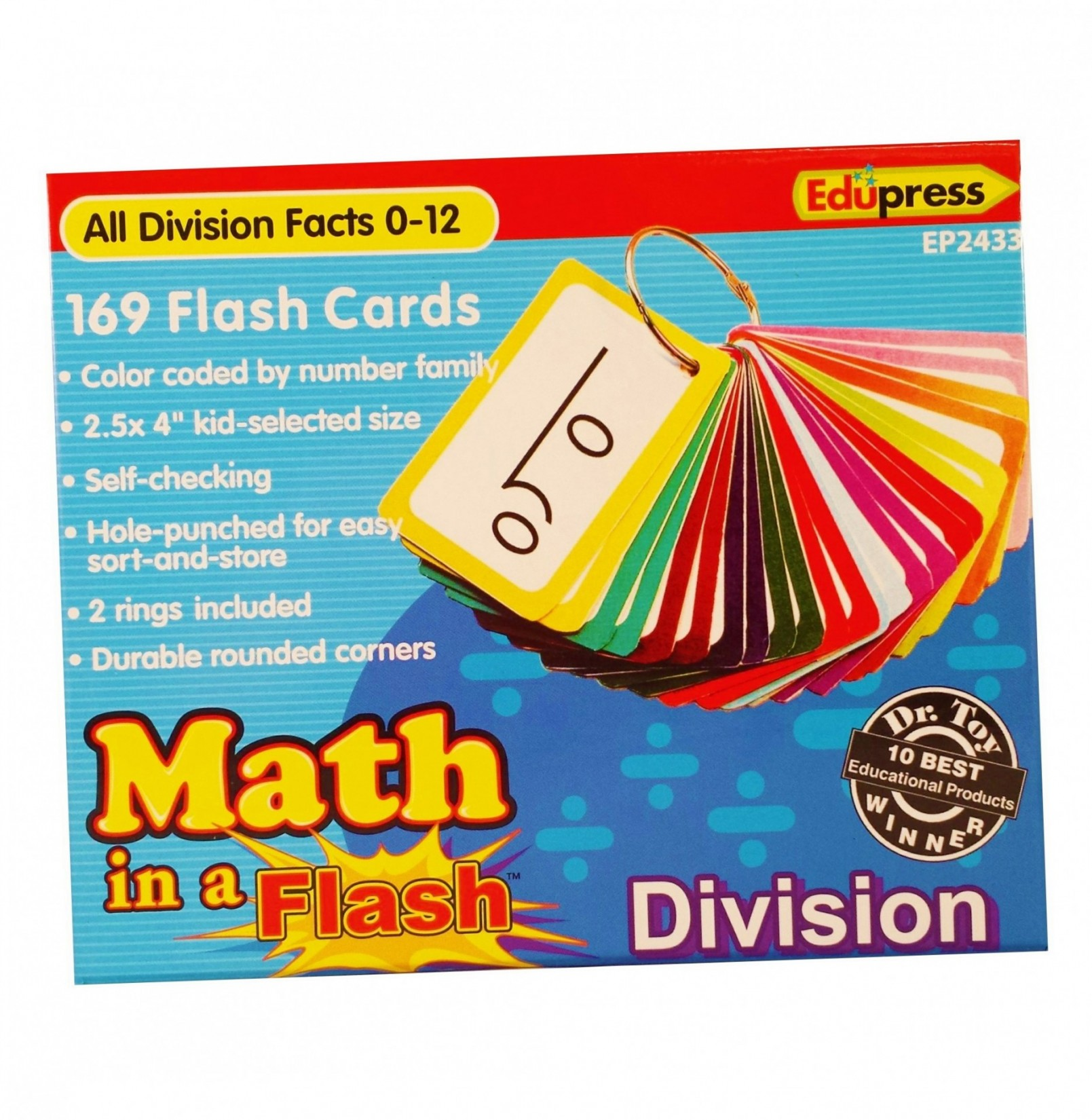 Math in a Flash™ Color-Coded Flash Cards, Division – Melody House Music