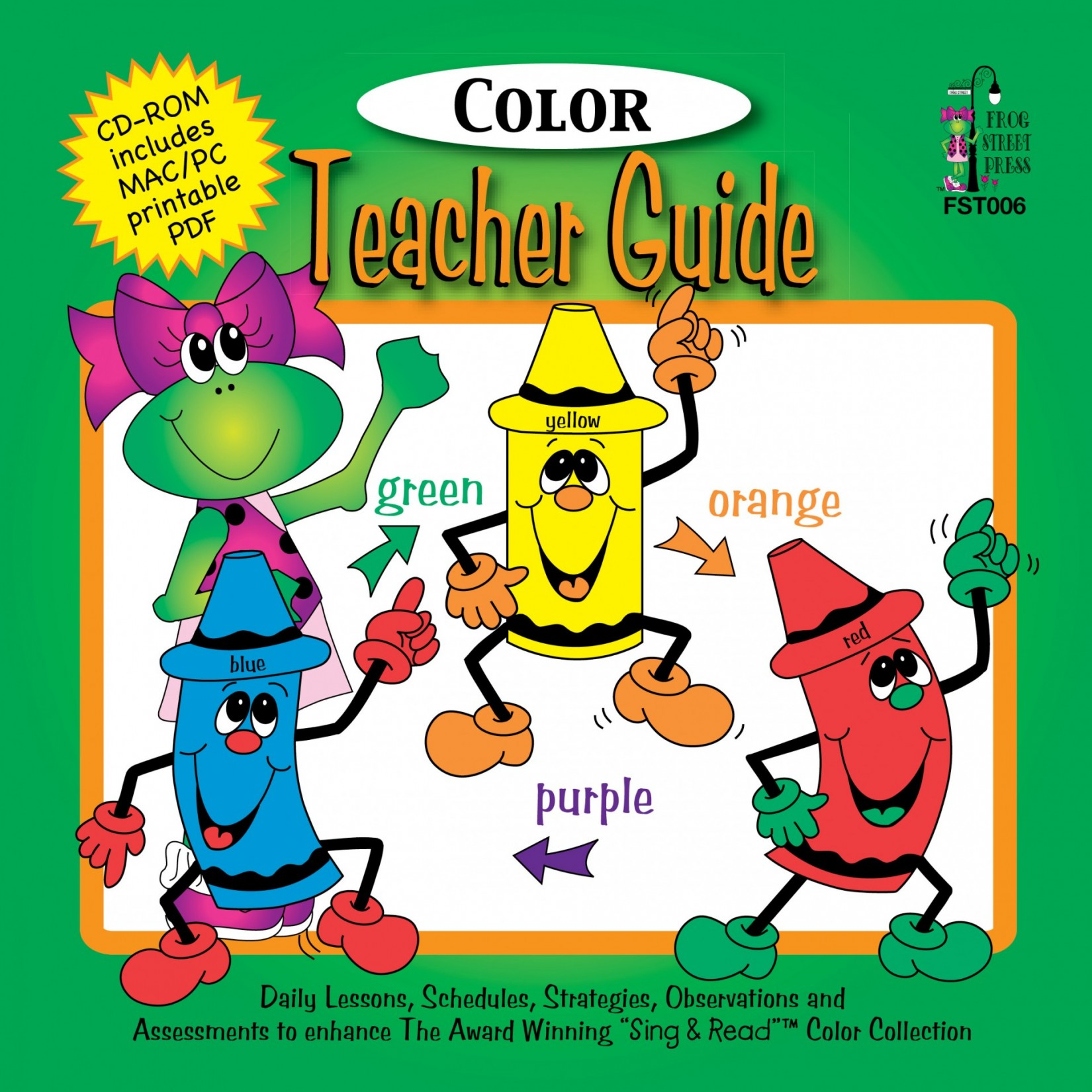 sing read colors teacher