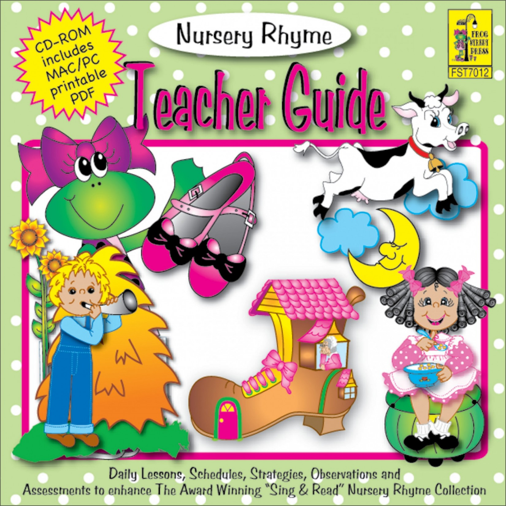 Sing Read Nursery Rhyme Teacher Guide Cd Rom