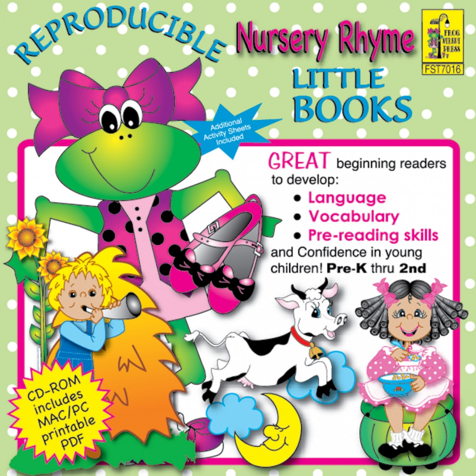 Nursery Rhymes Reproducible Little Books Cd Rom