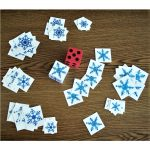 Snowflake Matching & Counting Game with Dice